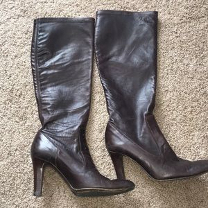 Cole haan brown leather boots sz 7.5B